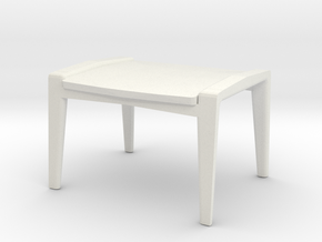 Pilot Ottoman 1-24 Scale in White Natural Versatile Plastic