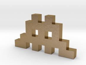 Invader1 in Polished Gold Steel