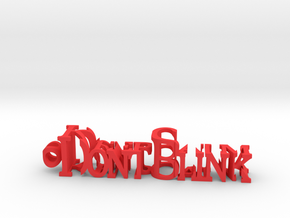 KeepCalm DontBlink in Red Processed Versatile Plastic