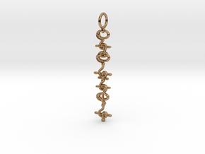 """""""T'hy'la"""" Stardust Pendant in Polished Brass"""