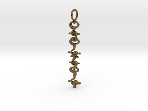"""T'hy'la"" Stardust Pendant in Polished Bronze"