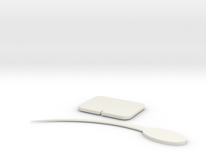 Tooth Pick in White Natural Versatile Plastic