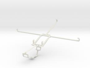 Controller mount for Xbox One & Alcatel POP 10 in White Natural Versatile Plastic