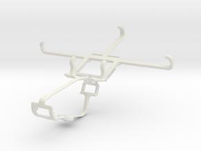 Controller mount for Xbox One & BLU Studio C 5 + 5 in White Natural Versatile Plastic