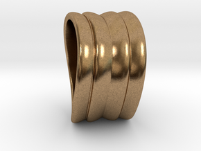 Wave in Natural Brass