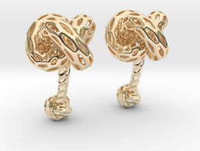 Big DRAGON, Cufflinks. Pure, Bold, Strong.  in 14k Gold Plated Brass