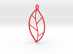 The One Leaf in Red Processed Versatile Plastic