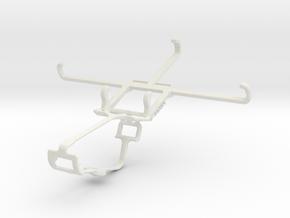 Controller mount for Xbox One & Motorola Moto X Fo in White Natural Versatile Plastic