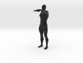 1:24 Male soldier 017 in Black Hi-Def Acrylate