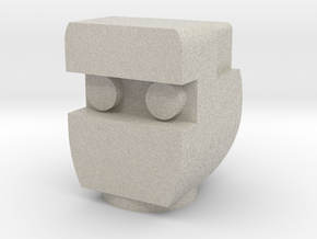Rom The Space Knight Head in Natural Sandstone