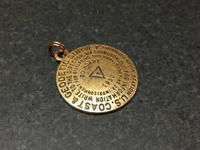 Triangulation Station Keychain Position 3 in Natural Bronze