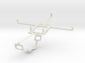 Controller mount for Xbox One & Panasonic Eluga Sw in White Natural Versatile Plastic