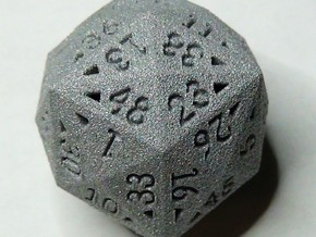 48 Sided Die - Regular in White Natural Versatile Plastic