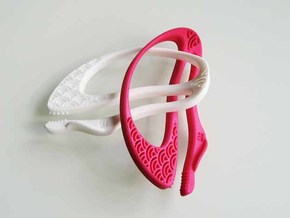 """Seigaiha"", Pinch Holders in Pink Processed Versatile Plastic"