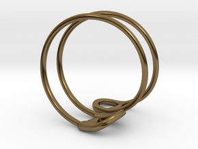 Safety Ring Version 2 in Polished Bronze: 4 / 46.5