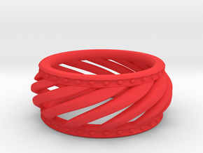 Bracelet in Red Processed Versatile Plastic