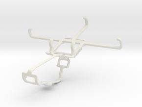 Controller mount for Xbox One & Lava Iris Fuel F2 in White Natural Versatile Plastic
