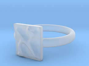 01 Alef Ring in Smooth Fine Detail Plastic: 5 / 49