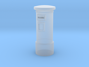 N/OO Scale English Post Box in Smooth Fine Detail Plastic: 1:160 - N