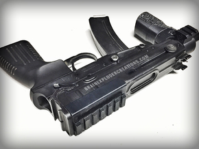 KWA/KSC KZ61 Skorpion Top Rail in Black Natural Versatile Plastic