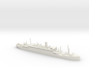 HMS Jervis Bay in 1/1800 scale in White Natural Versatile Plastic