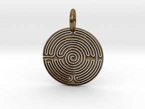 Small Labyrinth in Natural Bronze