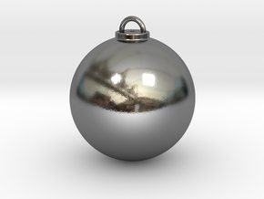 Christmas Ball Hollow - Custom in Polished Silver