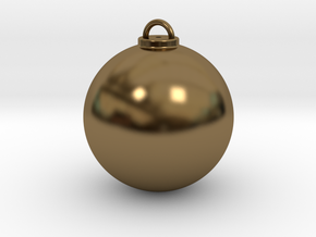 Christmas Ball Hollow - Custom in Polished Bronze