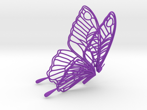 Butterfly Teabag Holder in Purple Strong & Flexible Polished