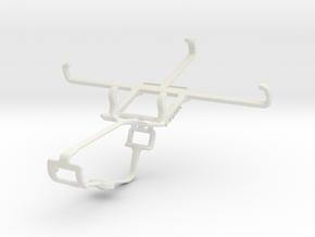 Controller mount for Xbox One & BlackBerry Z30 in White Natural Versatile Plastic