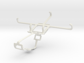 Controller mount for Xbox One & HTC One 2014 in White Natural Versatile Plastic