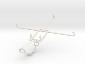 Controller mount for Xbox One & Dell Venue 8 in White Natural Versatile Plastic