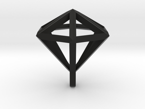 Diamant pendant in Black Strong & Flexible