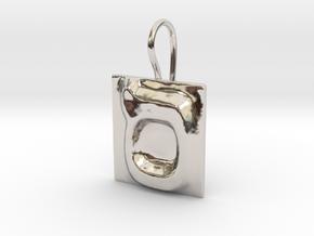 15 Samekh Earring in Rhodium Plated Brass