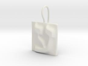 16 Ayn Earring in White Natural Versatile Plastic
