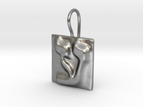 16 Ayn Earring in Natural Silver