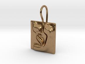 16 Ayn Earring in Natural Brass