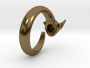 Dragon Ring in Polished Bronze: 6 / 51.5
