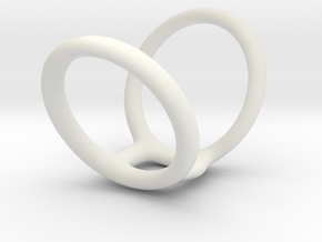 Ring splint sizes 5/5 to 8/5 length 34 mm  in White Natural Versatile Plastic