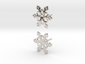 Snowflake in Rhodium Plated Brass: Large