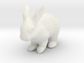 Rabbit in White Natural Versatile Plastic