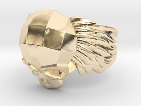 Winged Skull Ring in 14K Yellow Gold: 11.5 / 65.25