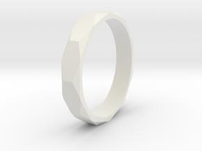 beveled ring   in White Natural Versatile Plastic: 10.5 / 62.75