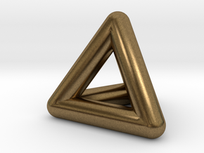 0278 Tetrahedron V&E (full color) in Natural Bronze (Interlocking Parts)