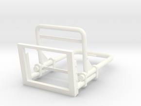 Seaking Seat in White Processed Versatile Plastic