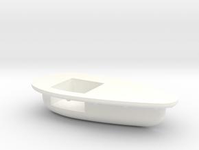 Seaking Teardrop Vent Starboard Side in White Processed Versatile Plastic