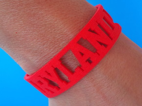 Maryland Cuff in Red Processed Versatile Plastic