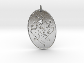 Shooting Stars 1 Pendant by Gabrielle in Natural Silver
