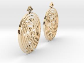 Earring Model F Pair in 14k Gold Plated Brass