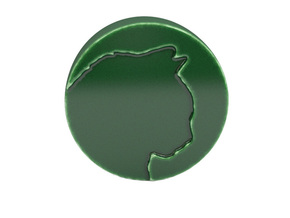 Paperweight in Gloss Oribe Green Porcelain
